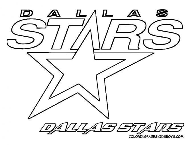 Coloriage et dessins gratuits Logo d'équipe de Hockey Dallas Stars à imprimer