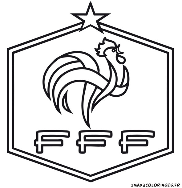 Coloriage quipe de france de football dessin gratuit - Coloriage de foot ...