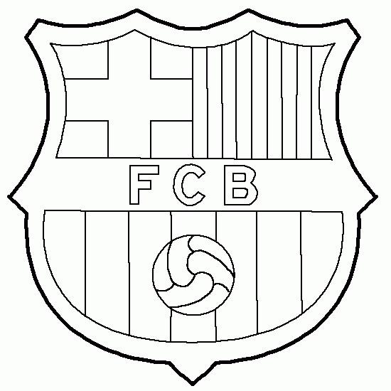 Coloriage f c barcelone quipe de la liga dessin gratuit - Dessin equipe de foot ...