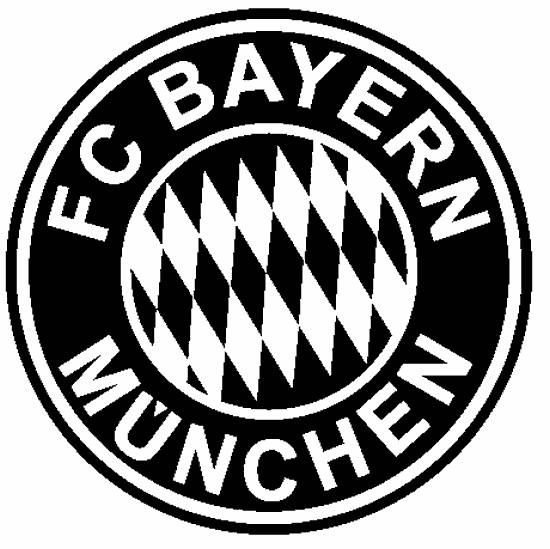 Coloriage et dessins gratuits F.C Bayern Logo en noir à imprimer