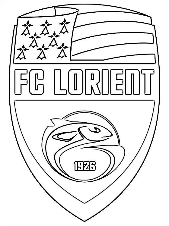Coloriage et dessins gratuits F.C Lorient équipe de Football à imprimer
