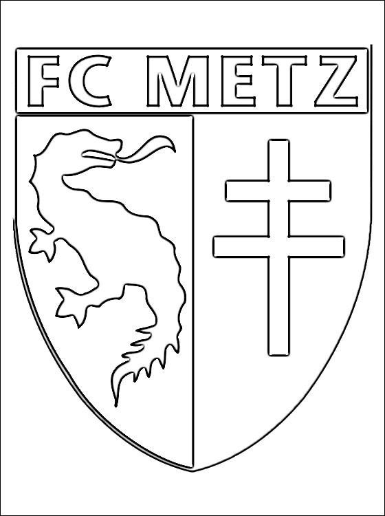 Coloriage et dessins gratuits F.C Metz Logo à imprimer