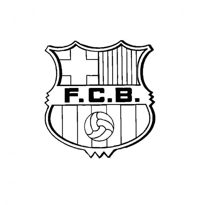 Coloriage et dessins gratuits Foot Barcelone à imprimer