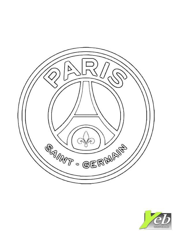 Coloriage foot psg dessin gratuit imprimer - Dessin equipe de foot ...