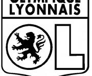Coloriage et dessins gratuit Football Olympique Lyonnais à imprimer