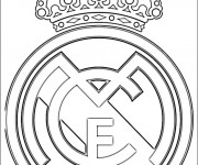 Coloriage et dessins gratuit Football Real Madrid à imprimer