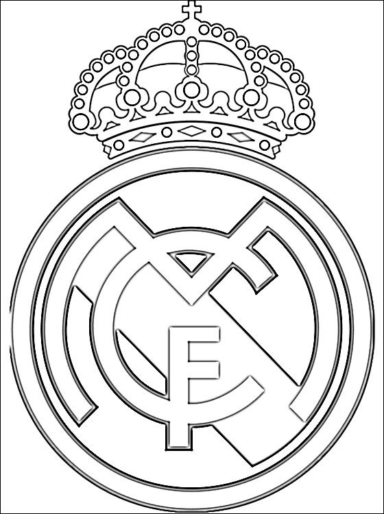 Coloriage Football Real Madrid Dessin Gratuit à Imprimer