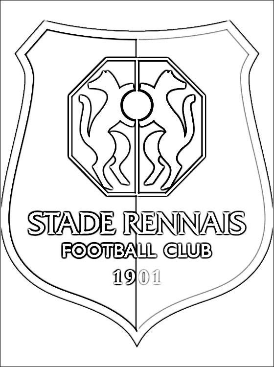Coloriage et dessins gratuits L'équipe de Stade Rennais à imprimer