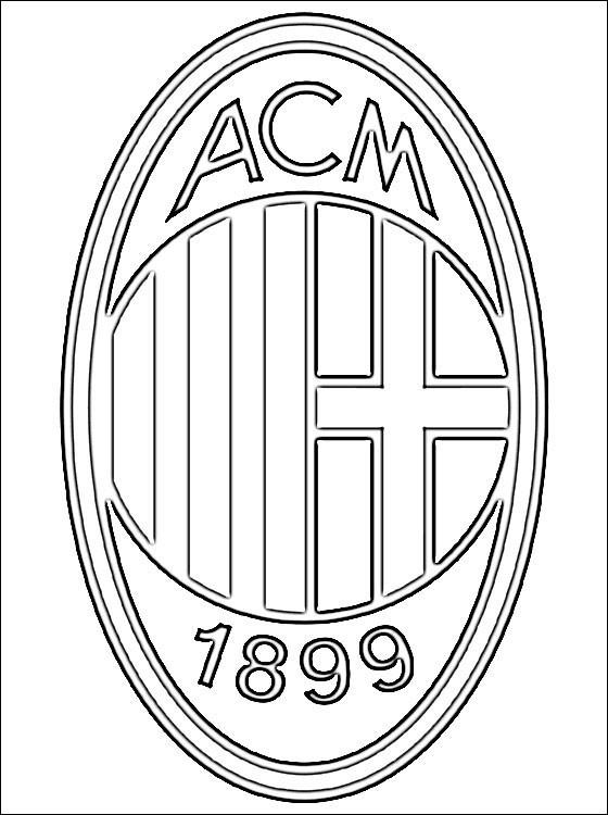 Coloriage et dessins gratuits Le A.C milan de Calcio à imprimer