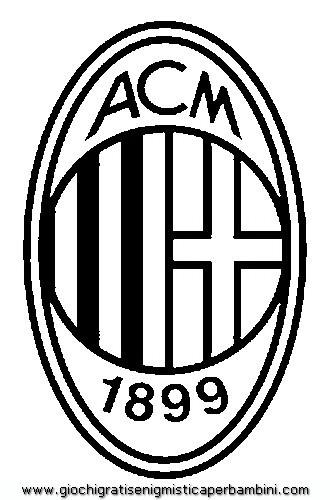 Coloriage et dessins gratuits Le Logo de A.C Milan à imprimer