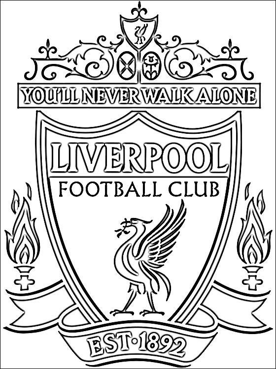 Coloriage Foot Losc.Coloriage Liverpool Premier League Dessin Gratuit A Imprimer