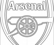 Coloriage Logo d'Arsenal