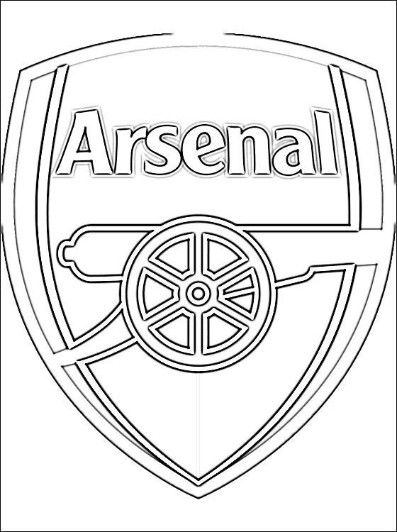 Coloriage et dessins gratuits Logo d'Arsenal à imprimer