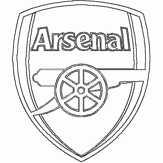 Coloriage logo de arsenal anglais dessin gratuit imprimer - Coloriage de logo de foot ...