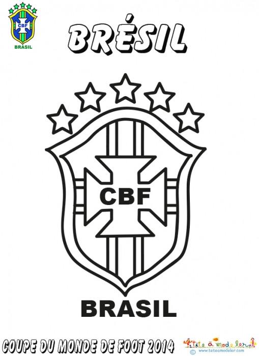 Coloriage logo de br sil dessin gratuit imprimer - Logo club foot bresil ...