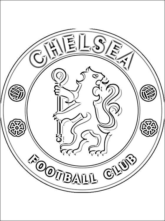 Coloriage Foot Losc.Coloriage Logo De Chelsea Dessin Gratuit A Imprimer