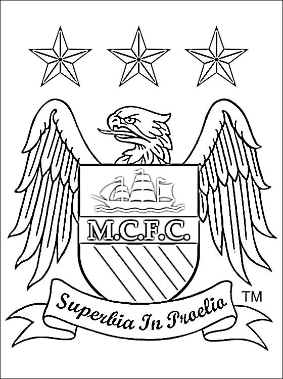coloriage logo de club de foot manchester city dessin