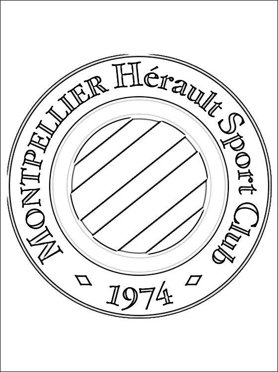 Coloriage et dessins gratuits Logo de Club de Montpellier à imprimer