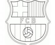 Coloriage logo de foot gratuit imprimer liste 20 40 - Logo barcelone foot ...