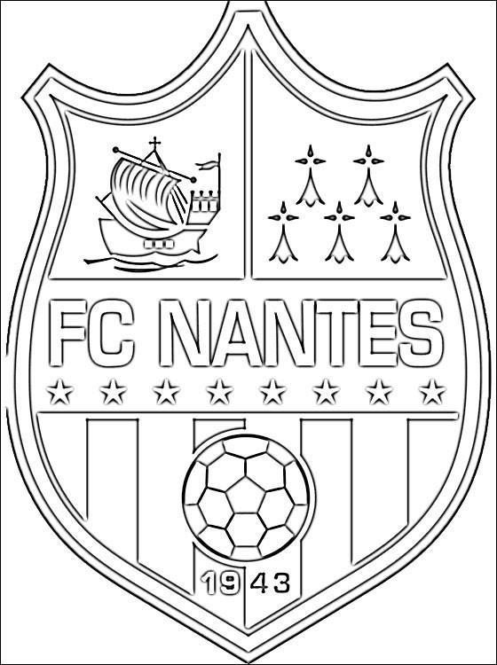 Coloriage logo de f c nantes dessin gratuit imprimer - Coloriage de logo de foot ...