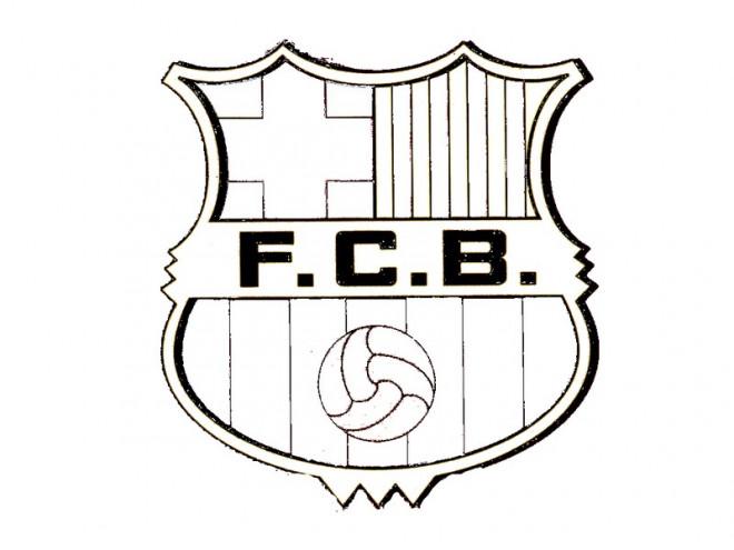 Coloriage Ecusson Pat Patrouille.Coloriage Logo De F C Barcelone Dessin Gratuit A Imprimer