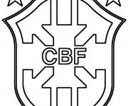 Coloriage dessin  Logo de Foot 8