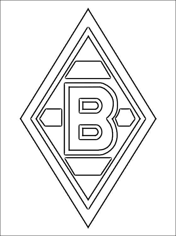 Coloriage et dessins gratuits Logo de Foot à colorier à imprimer