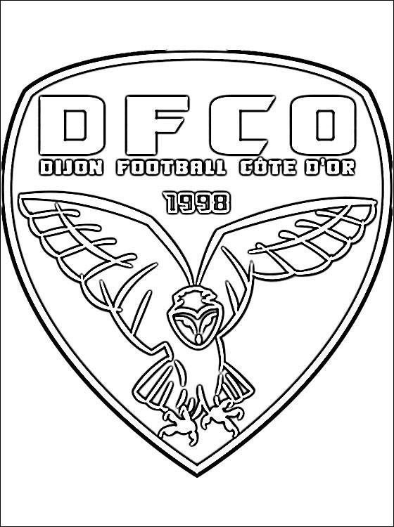 Coloriage logo de foot dijon dessin gratuit imprimer - Coloriage de logo de foot ...