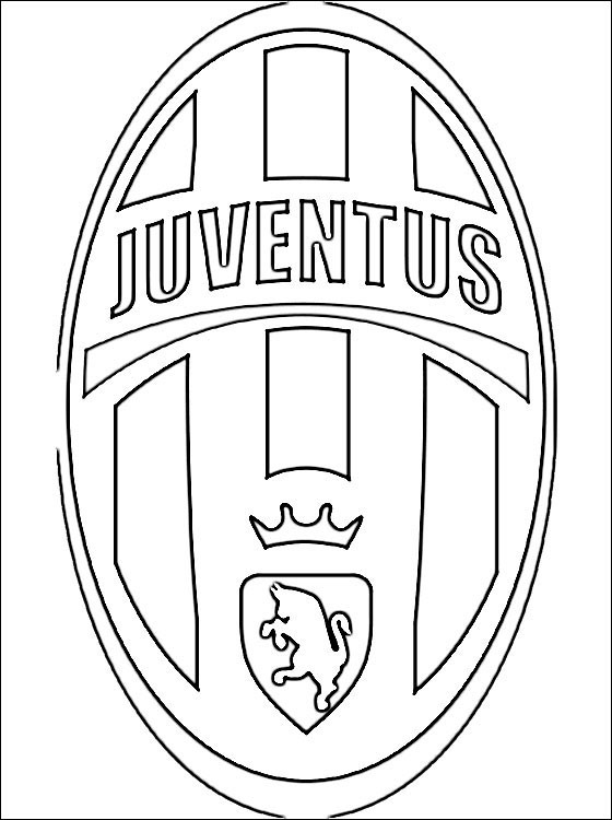 Coloriage logo de juventus dessin gratuit imprimer - Coloriage de logo de foot ...