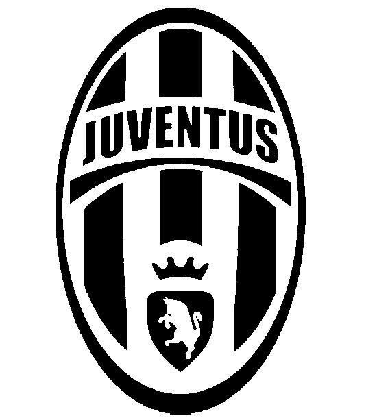 Coloriage et dessins gratuits Logo de Juventus en noir et blanc à imprimer