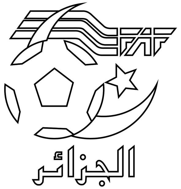 Coloriage logo de l 39 quipe alg rienne - Logo club foot bresil ...