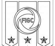 Coloriage et dessins gratuit Logo de l'équipe d'Italie de football à imprimer