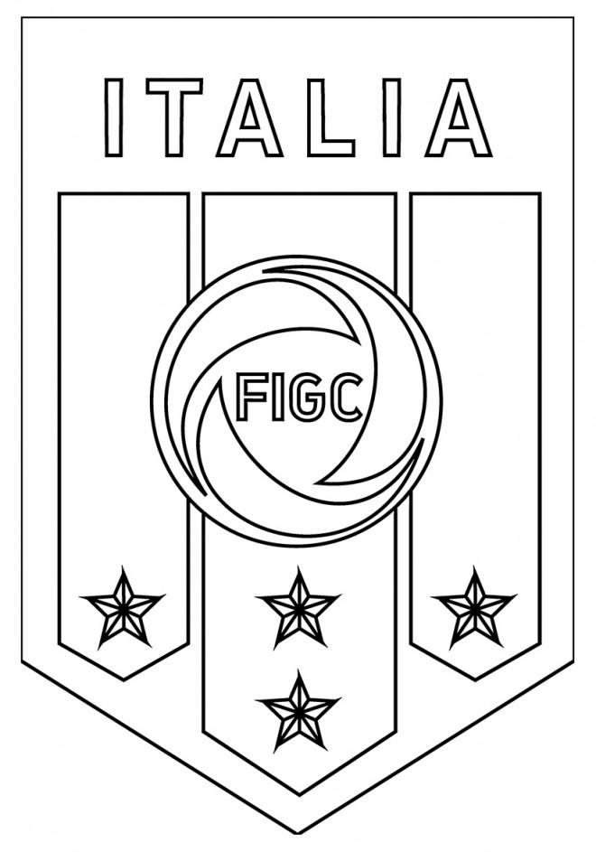 Coloriage logo de l 39 quipe d 39 italie de football - Logo club foot bresil ...