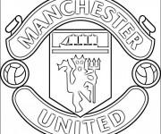 Coloriage Logo de Manchester United