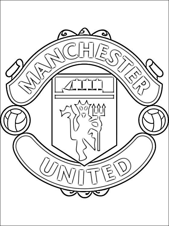 Coloriage Logo De Manchester United Dessin Gratuit A Imprimer