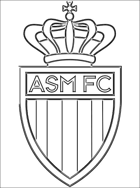 Coloriage Logo De Monaco équipe Française