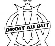 Coloriage et dessins gratuit Logo de Olympique Marseille à imprimer