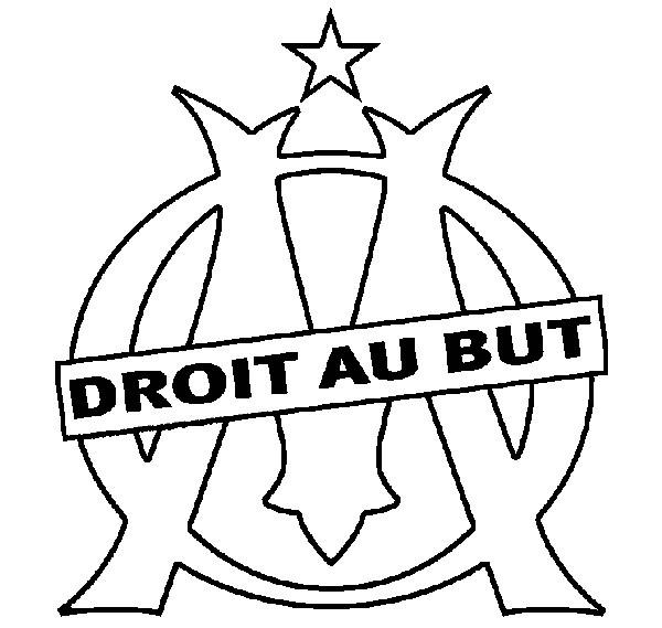 Coloriage logo de olympique marseille dessin gratuit - Dessin a decalquer ...