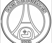 Coloriage Logo De Paris Saint Germain De Foot Dessin Gratuit à Imprimer