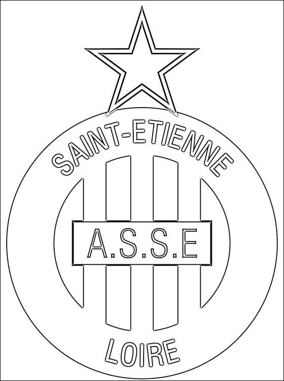 Coloriage logo de saint etienne fran ais dessin gratuit imprimer - Coloriage de logo de foot ...