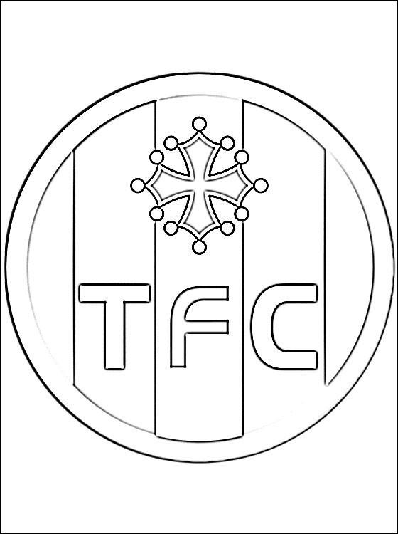 Coloriage logo de toulouse fc dessin gratuit imprimer - Logo club foot bresil ...