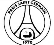 Coloriage et dessins gratuit Logo PSG à imprimer