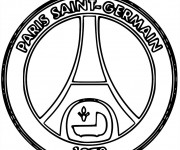Coloriage Logo Psg De Foot Francais Dessin Gratuit A Imprimer