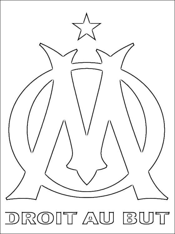 Coloriage et dessins gratuits O.M équipe de Foot à imprimer