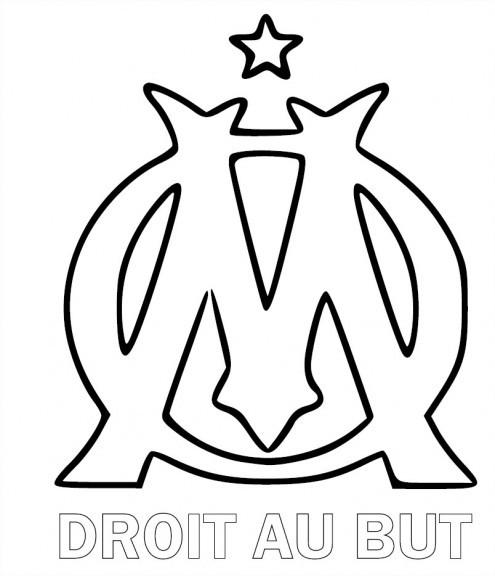 Coloriage olympique de marseille foot dessin gratuit imprimer - Comment dessiner un but de foot ...
