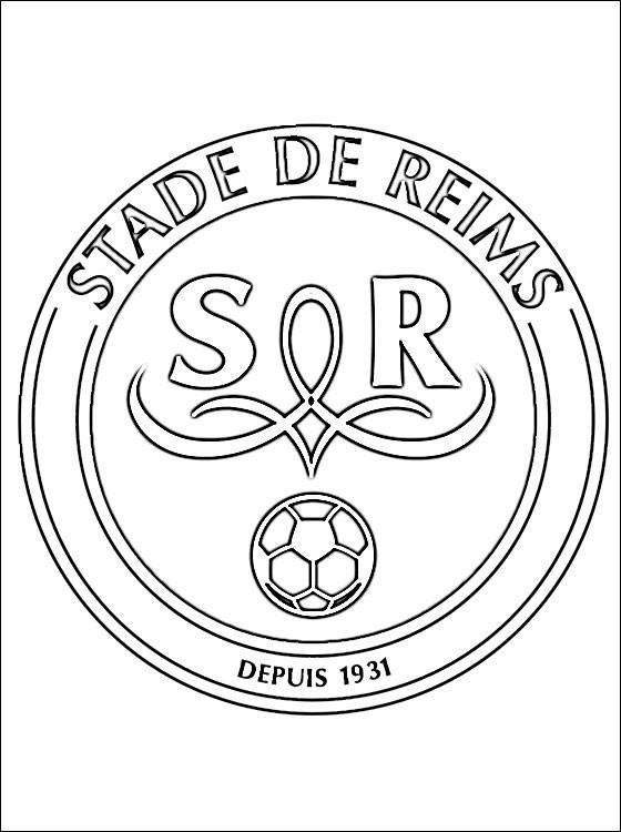 Coloriage et dessins gratuits Stade De Reims équipe de Foot à imprimer