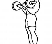 Coloriage et dessins gratuit Exercice de Musculation à imprimer