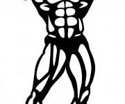 Coloriage dessin  Musculation 5