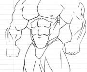 Coloriage dessin  Musculation 8