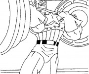 Coloriage Musculation Captain America